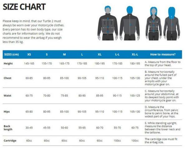 Bildresultat för Helite turtle size guide